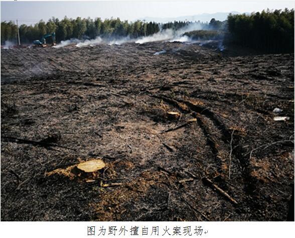县林业局新杭森林派出所查处一起野外擅自用火案