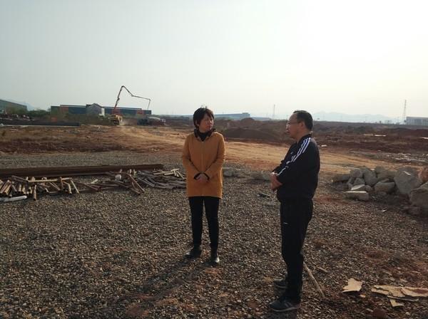 陈红英检查项目建设情况