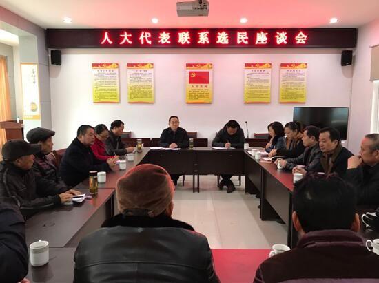 """县领导到景贤社区开展""""代表联系选民周""""座谈会活动"""