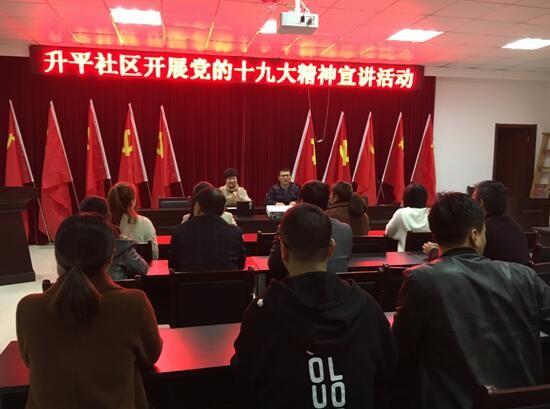 桃州镇升平社区开展党的十九大精神宣讲活动