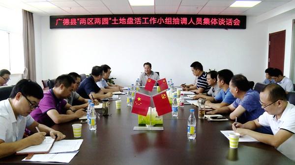 """王庆武与县""""两区两园""""土地盘活工作小组抽调人员集体谈话"""