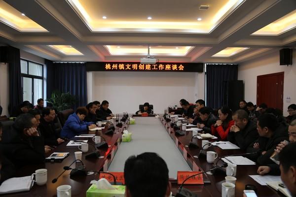 桃州镇文明创建工作座谈会