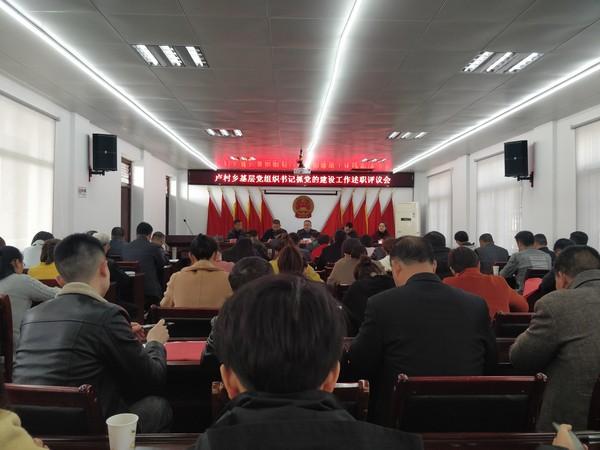 卢村乡召开基层党组织书记抓党的建设述职评议会