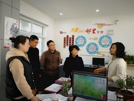 桃州镇民政所前往景贤社区开展居家养老服务视察工作