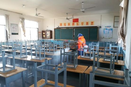 广德市中小学校扎实开展校园防疫消毒工作