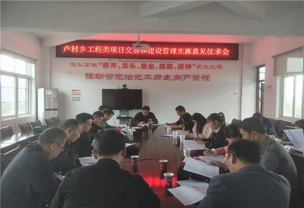 卢村乡规范工程类项目交易和建设管理实施意见征求会