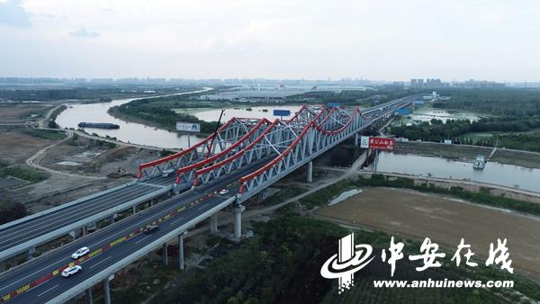 """又一""""堵点""""消除 引江济淮中派河大桥改建工程建成通车"""
