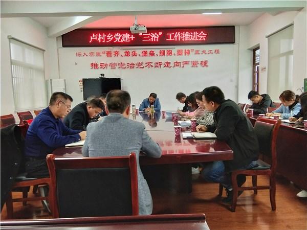 """卢村乡召开党建+""""三治""""工作暨矛盾纠纷排查化解工作会议"""