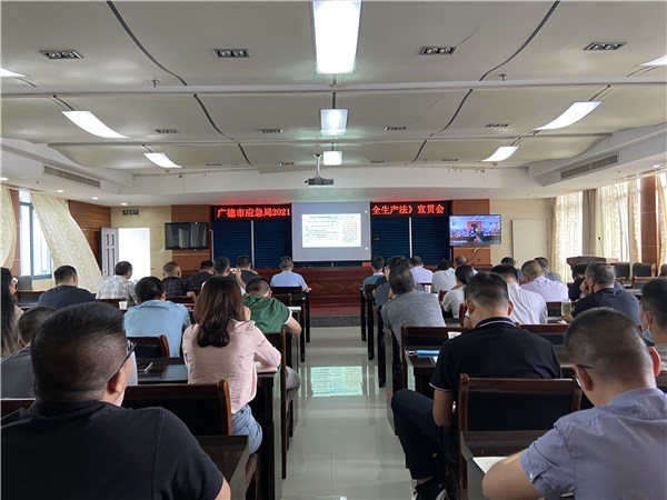 广德市应急局组织参加新《中华人民共和国安全生产法》视频宣贯会