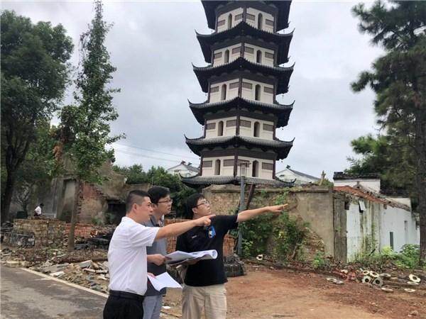广德市发改委到天寿寺塔、经开区、东亭乡、新杭镇开展项目调研