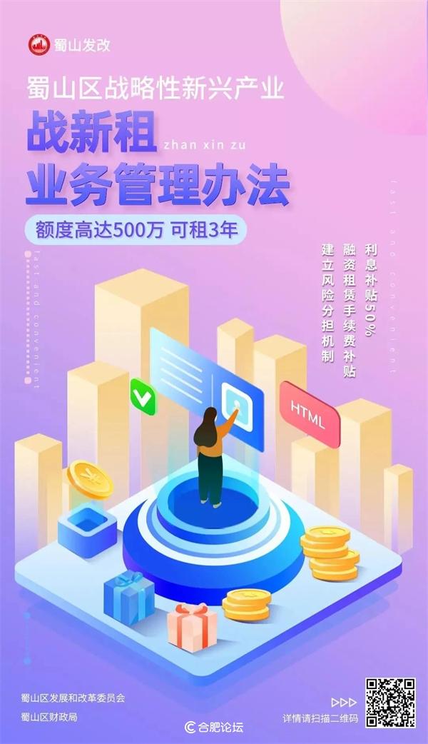 """蜀山区全市首推""""战新租"""",融资租赁利率仅为3.5%"""