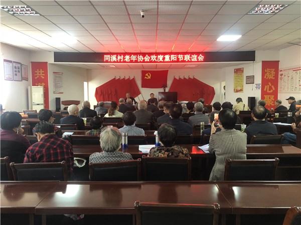 卢村乡同溪村老年协会开展欢度重阳节联谊会